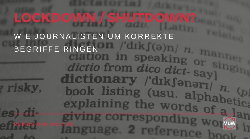 Lockdown Oder Shutdown